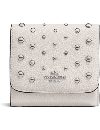 Small Wallet In Ombre Rivets Pebble Leather