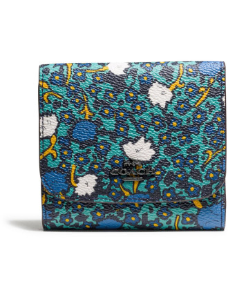 Small Wallet In Yankee Floral Print Canvas