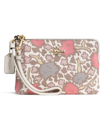 Small Wristlet In Yankee Floral Print Canvas