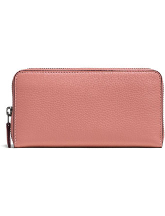 ACCORDION ZIP WALLET IN GLOVETANNED PEBBLE LEATHER