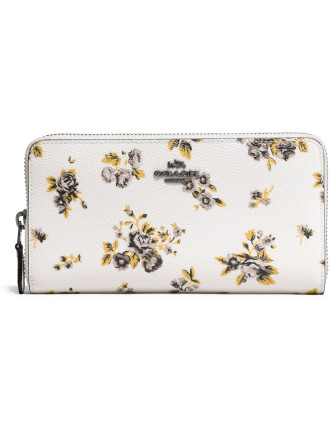 ACCORDION ZIP WALLET IN PRAIRIE PRINT COATED CANVAS