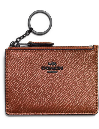 MINI SKINNY ID CASE IN METALLIC LEATHER
