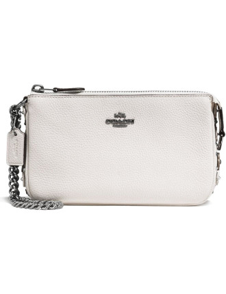 NOLITA WRISTLET 19 IN PEBBLE LEATHER WITH WILLOW FLORAL