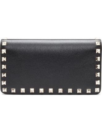Rockstud Flap Continental Wallet