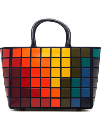 Small Tote Ebury Giant Pixels Suede