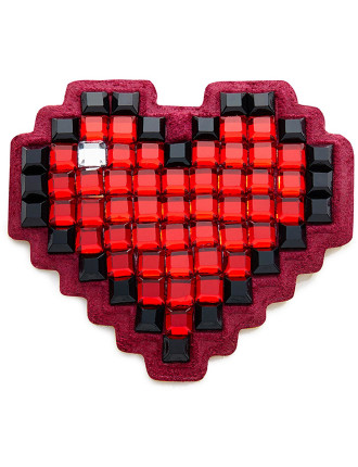 STICKERS HEART IN RED CRYSTALS