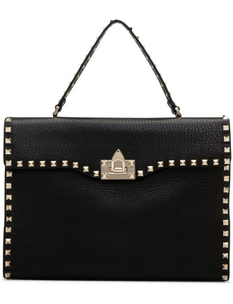 Rockstud Lg Single Handle Bag