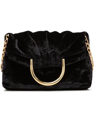 Nina Small Bag With Chain Velvet