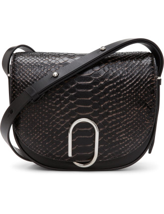 Alix Saddle Bag Python Effect
