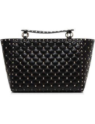 Rockstud Spike - Med Tote W/ Handle And Strap