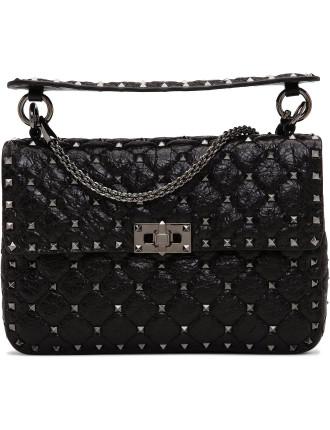Rockstud Spike - Crckle Bag Single Hndl Chain