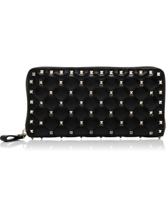 Rockstud Spike - Zip Around Continental Wallet
