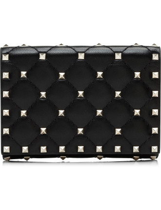 Rockstud Spike - Flap French Wallet
