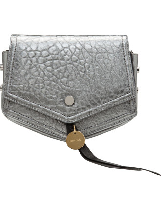 Arrow Cross Body Bag Mgl Metallic Grainy Leather