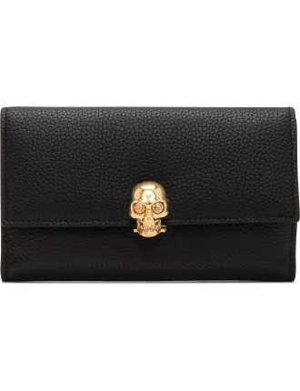 Skull Medium Continental Wallet