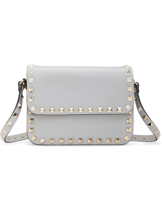Rockstud Shoulder Bag With Flap - New Model