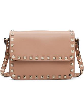 Rockstud Shoulder Bag With Flap - New Model