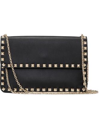 Rockstud Envelope Chain Bag