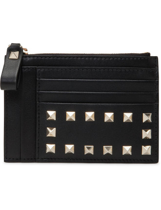Rockstud Card Case Multi With Zip