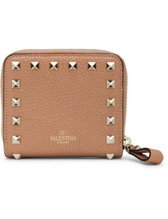 Rockstud Zip Around French Wallet