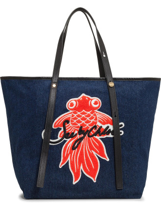 Fish Denim Tote