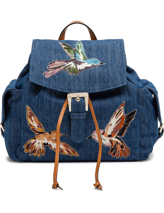 Hummingbird Canvas Back Pack