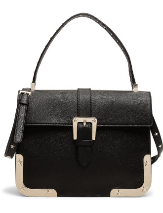 Star Frame Top Handle Shoulder Bag Calf