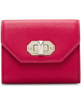 Soft Calf Stud Card Holder Zip Coin