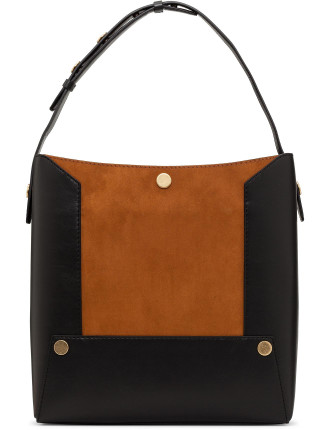 Alter Suede Popper Small Bucket Bag