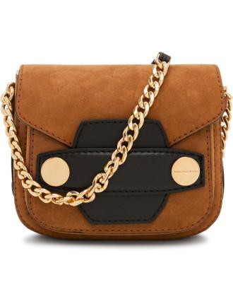 Alter Suede Popper Small Shoulder Bag