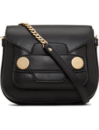 Alter Black Popper Medium Shoulder Bag
