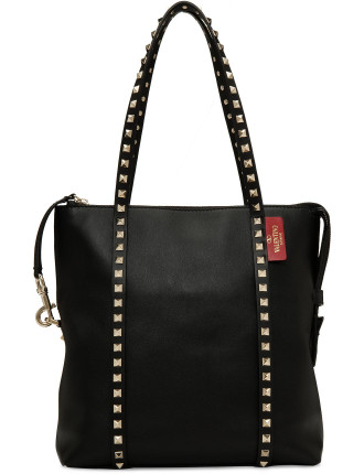 Rockstud Leather Small Tote