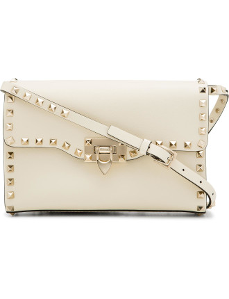 Rockstud Leather Medium Shoulder Bag