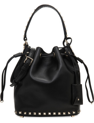 Rockstud Leather Small Bucket Bag