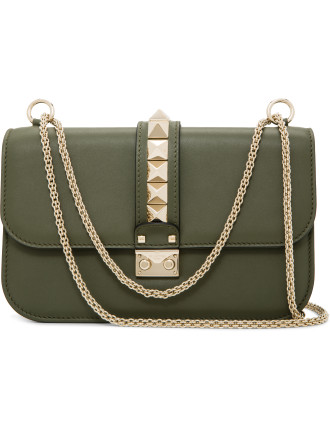 Lock Medium Stud Shoulder Bag