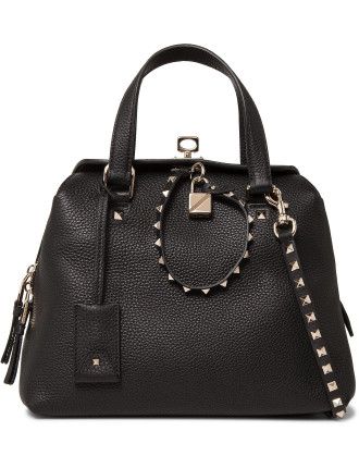 TWINY DUFFLE DOUBLE HANDLE SILVER LOCK + STUDS
