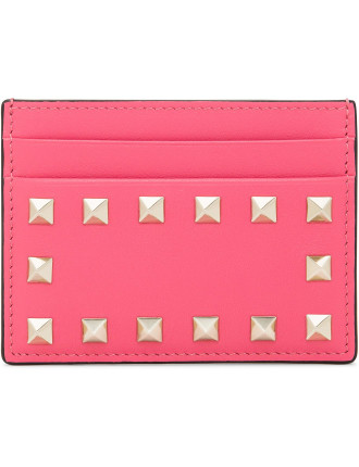 Rockstud Leather Small Card Holder