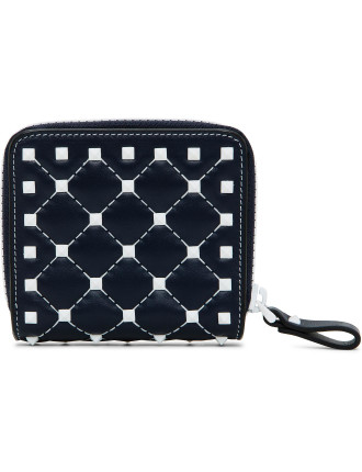 Rockstud Spike White Spike Zip Wallet