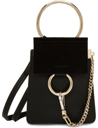 FAYE MINI SMALL BRACELET BAG CALFSKIN & SUEDE
