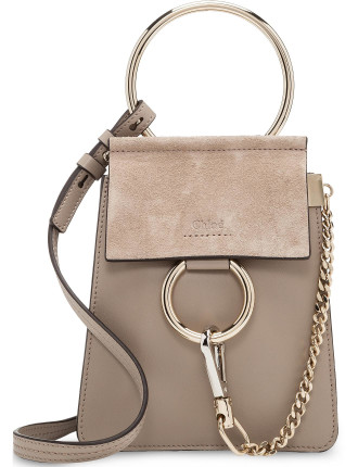 FAYE MINI SMALL BRACELET BAG GOATSKIN & SMOOTH CALFSKIN