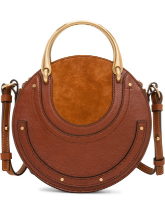 PIXIE SMALL DOUBLE HANDLE BAG SMOOTH & SUEDE CALFSKIN