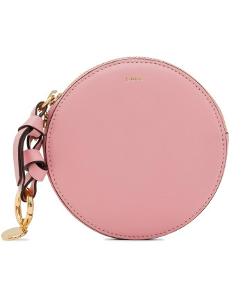 Alphabet Small Calfskin Round Purse