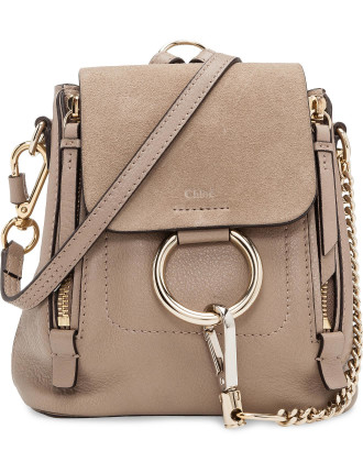 FAYE BACKPACK MINI SMOOTH & SUEDE CALFSKIN