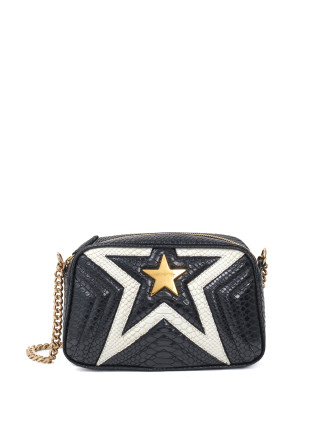 STELLA STAR SMALL SHOULDER BAG PYTHON PRINT