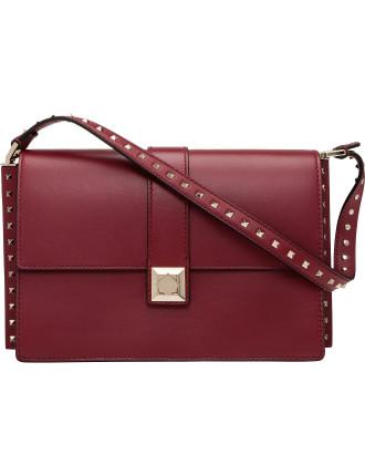 Vitello Side Stud Shoulder Bag
