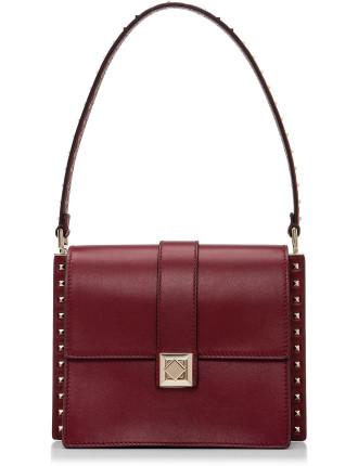 Vitello Side Stud Small Shoulder Bag