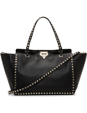 Vitello Rockstud Medium Tote