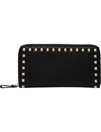 Vitello Rockstud Travel Wallet