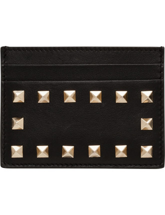 Vitello Rockstud Flap French Wallet