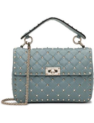 Nappa Rockstud Spike Medium Shoulder Bag